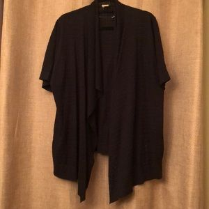 Black Open Knit Shrug- Faded Glory, 2X